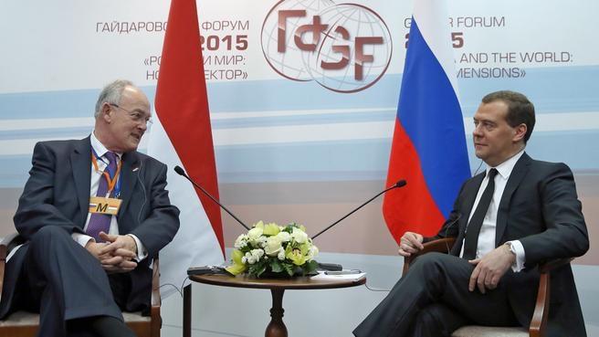 Встреча с государственным министром Монако Мишелем Роже