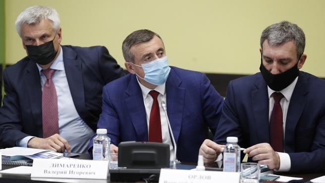 Губернатор Сахалинской области Валерий Лимаренко на заседании Правительственной комиссии по социально-экономическому развитию Дальнего Востока