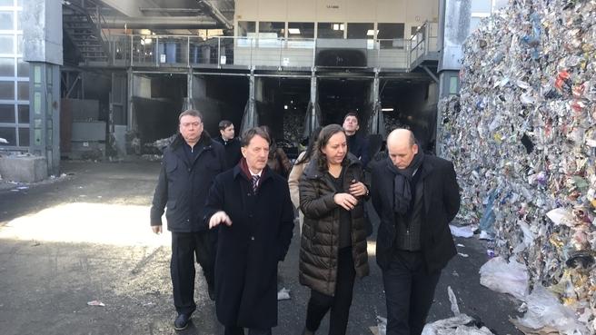 Алексей Гордеев во время посещения объектов по переработке и утилизации мусора в Германии