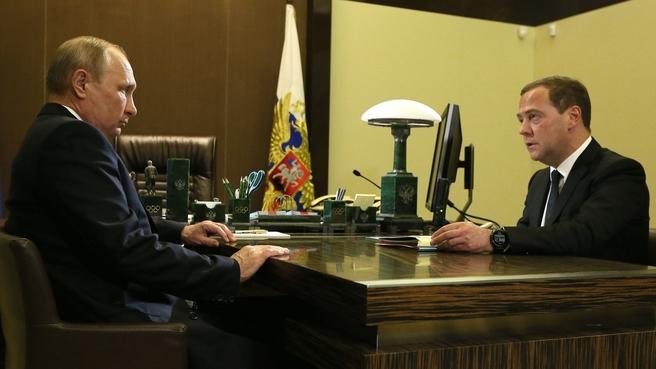 Рабочая встреча с Президентом Владимиром Путиным