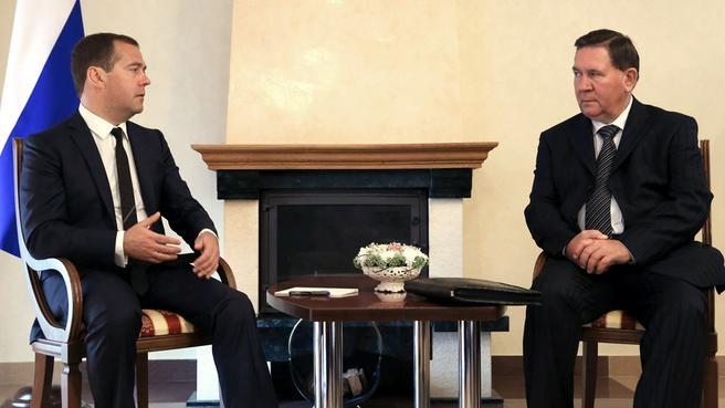 Рабочая встреча с временно исполняющим обязанности губернатора Курской области Александром Михайловым