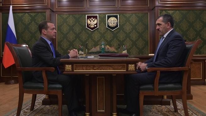 Встреча с главой Республики Ингушетия Юнус-Беком Евкуровым