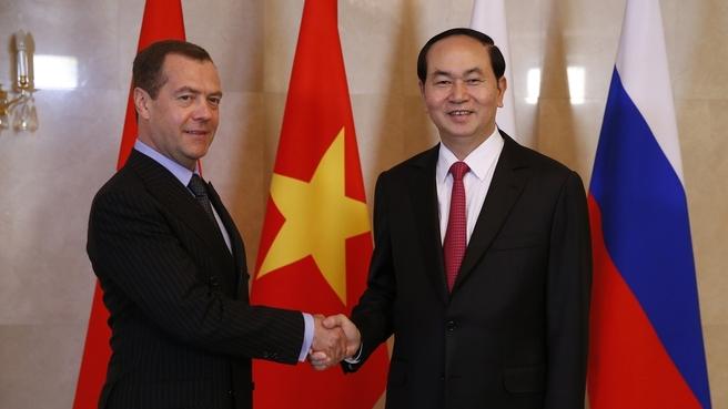 Talks with President of Vietnam Tran Dai Quang