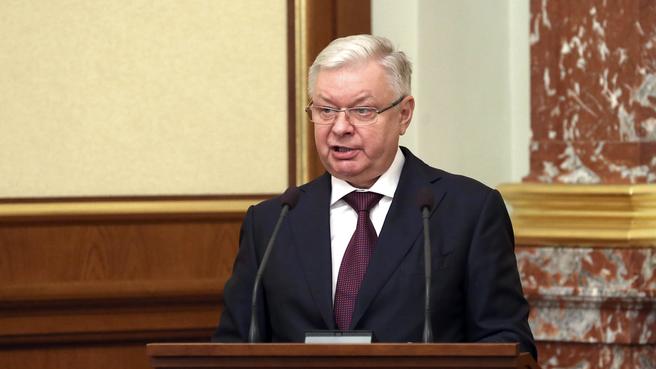 Доклад Константина Ромодановского на заседании Правительства