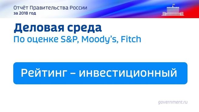 К отчёту о результатах деятельности Правительства России за 2018 год. Слайд 45