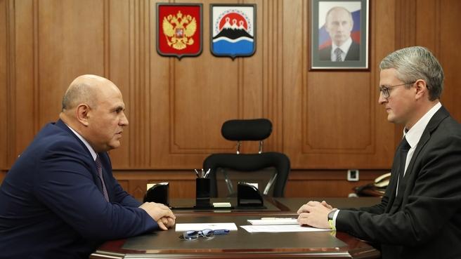 Беседа с временно исполняющим обязанности губернатора Камчатского края Владимиром Солодовым