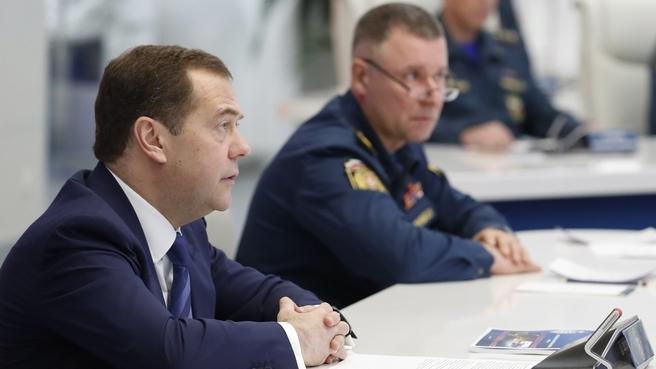 На видеоконференции с руководителями главных управлений МЧС России по регионам