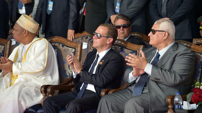 Официальная церемония открытия нового русла Суэцкого канала