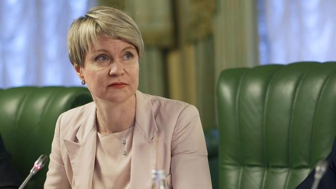 Руководитель образовательного центра «Сириус» Елена Шмелёва на заседании президиума Правительственной комиссии по региональному развитию