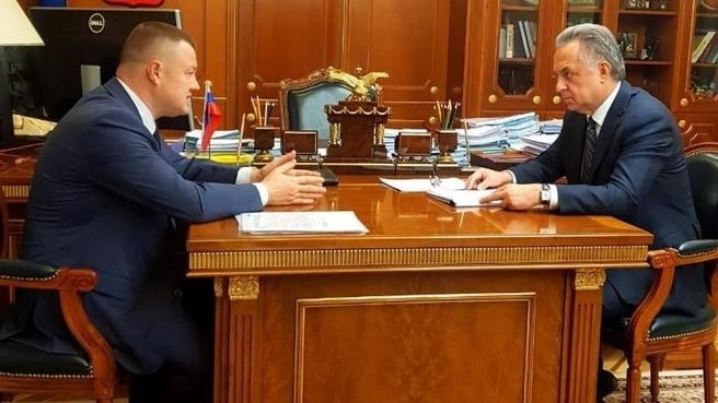 Встреча Виталия Мутко и губернатором Тамбовской области Александром Никитиным
