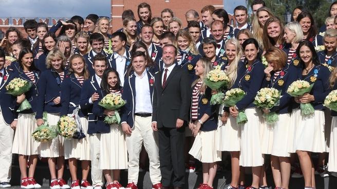 С победителями и призёрами Игр XXXI Олимпиады в Рио-де-Жанейро