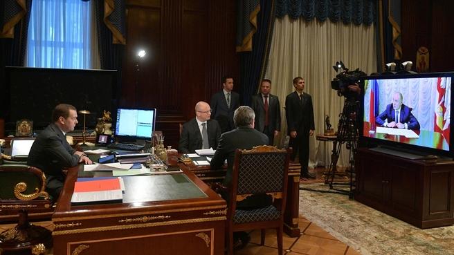 Совещание о действиях по ликвидации последствий обрушения дома в Магнитогорске