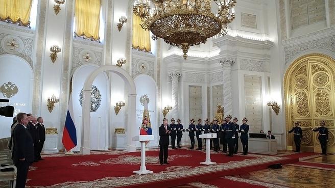 Вручение Государственных премий Российской Федерации 2016 года в области науки и технологий, литературы и искусства, а также за выдающиеся достижения в области гуманитарной деятельности. Фото ТАСС