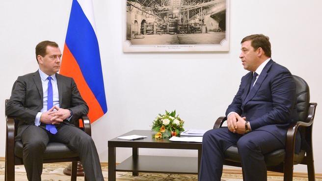 С губернатором Свердловской области Евгением Куйвашевым