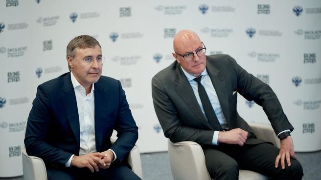 Дмитрий Чернышенко и Валерий Фальков провели стратегическую сессию по созданию университетских кампусов мирового уровня