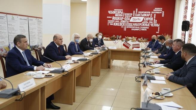 Встреча Михаила Мишустина с получателями субсидий по индивидуальной программе социально-экономического развития Марий Эл на 2020–2024 годы
