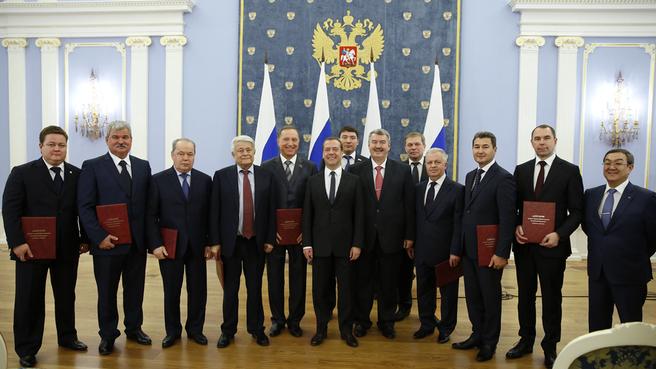 Представители организаций – лауреатов премий Правительства в области качества
