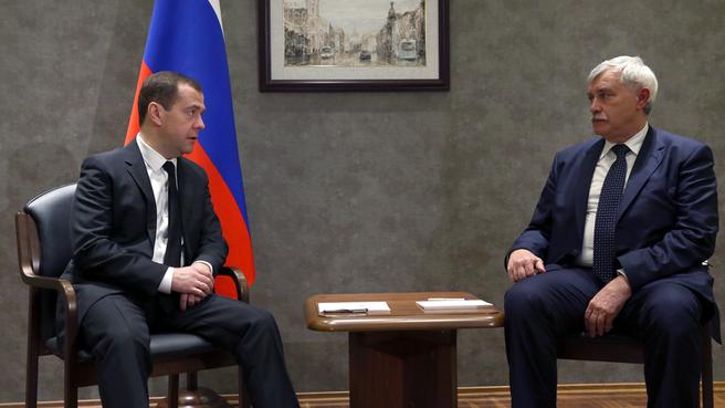 Беседа с губернатором Санкт-Петербурга Георгием Полтавченко
