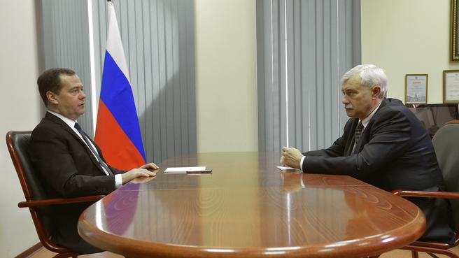Беседа c губернатором Санкт-Петербурга Георгием Полтавченко