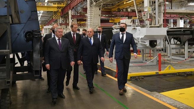 Посещение Комбайнового завода «Ростсельмаш»