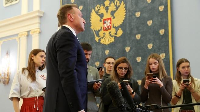 Брифинг председателя государственной корпорации развития «ВЭБ.РФ» Игоря Шувалова