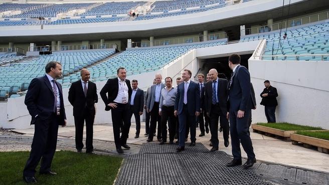 Игорь Шувалов и Аркадий Дворкович на Центральном стадионе в Сочи