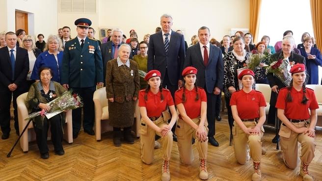 Вручение ветеранам юбилейных медалей «75 лет Победы в Великой Отечественной войне 1941–1945 гг.»