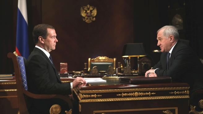 Встреча с руководителем Федеральной таможенной службы Владимиром Булавиным