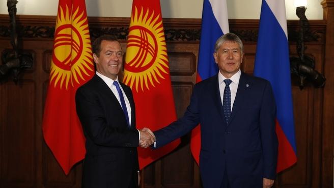 Meeting with President of Kyrgyzstan Almazbek Atambayev