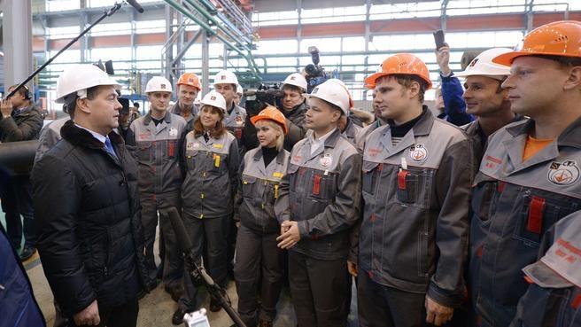 Беседа с рабочими Северского трубного завода