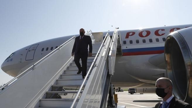 Михаил Мишустин прибыл в Минск на заседание Совета Министров Союзного государства