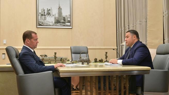 Встреча с губернатором Тверской области Игорем Руденей