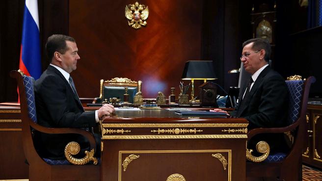 Рабочая встреча с губернатором Астраханской области Александром Жилкиным