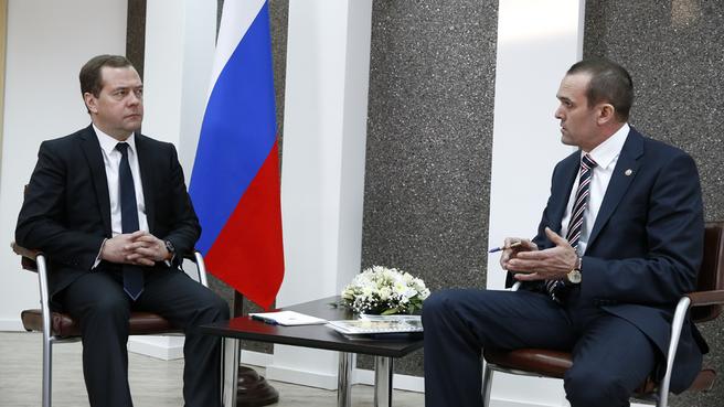 Рабочая встреча с главой Чувашской Республики Михаилом Игнатьевым
