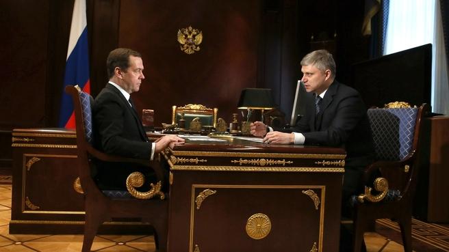Встреча с президентом ОАО «Российские железные дороги» Олегом Белозёровым