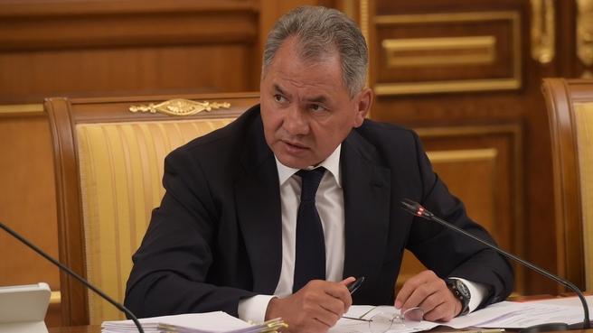 Сообщение Сергея Шойгу на заседании Правительства