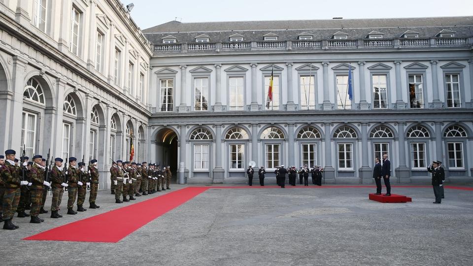 Церемония официальной встречи Дмитрия Медведева Премьер-министром Бельгии Шарлем Мишелем