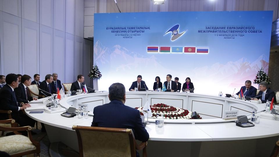 Заседание Евразийского межправительственного совета в узком составе