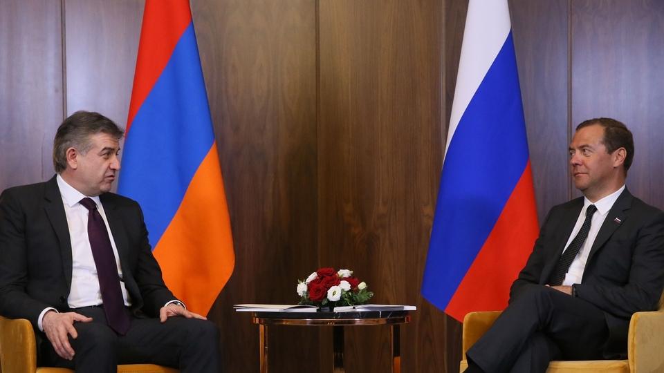 Беседа с Премьер-министром Республики Армения Кареном Карапетяном