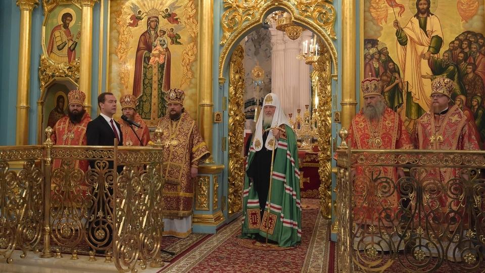 Церемония освящения Воскресенского собора Ново-Иерусалимского ставропигиального мужского монастыря