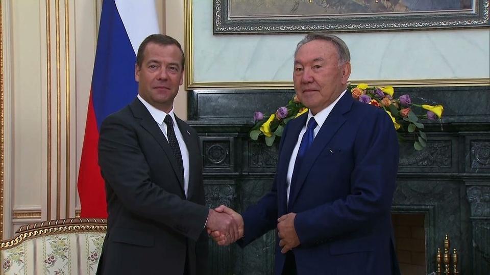 Беседа с Президентом Республики Казахстан Нурсултаном Назарбаевым