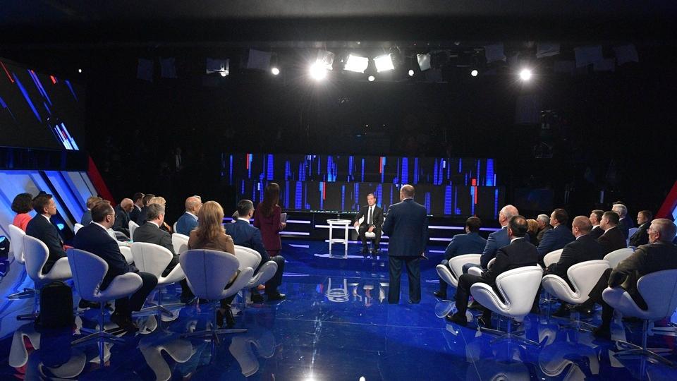 Диалог с Дмитрием Медведевым. Программа телеканала «Россия 24»