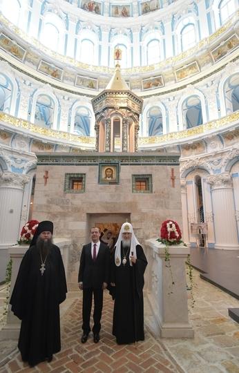 Осмотр Воскресенского собора Ново-Иерусалимского ставропигиального мужского монастыря