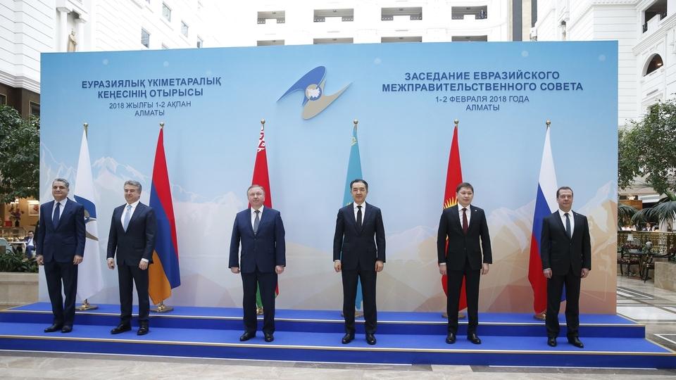 Совместное фотографирование глав делегаций – участников заседания Евразийского межправительственного совета