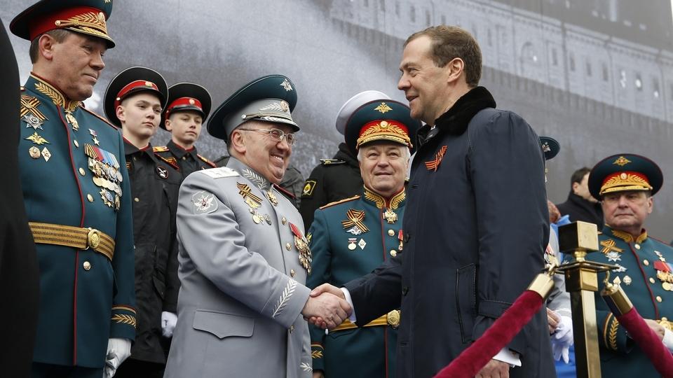 На военном параде в честь 72-й годовщины Победы в Великой Отечественной войне