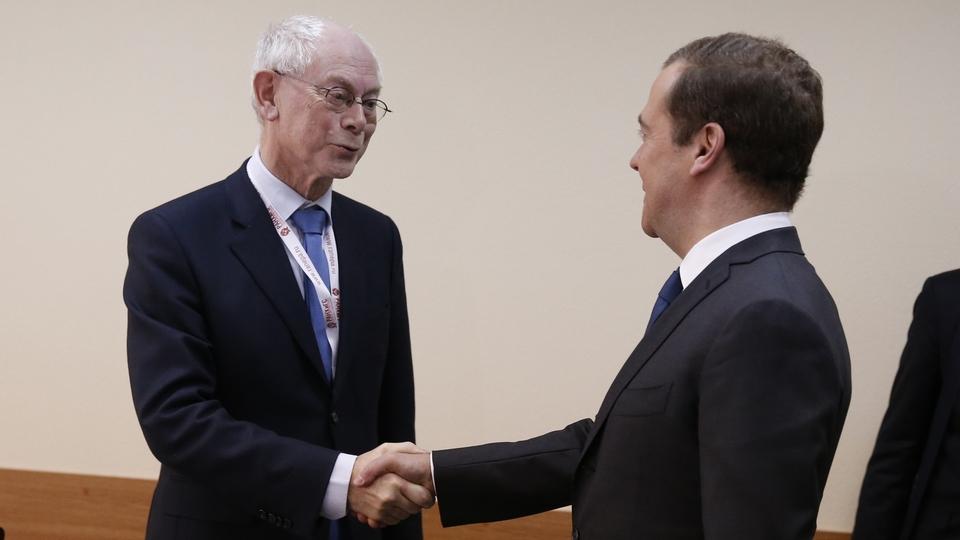 Встреча с президентом центра европейской политики Херманом Ван Ромпёем