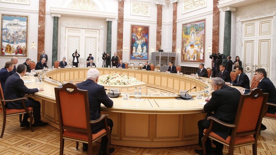 Встреча глав делегаций государств - участников Содружества Независимых Государств  с Президентом Белоруссии Александром Лукашенко