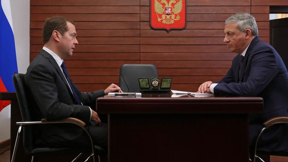 Беседа с главой Республики Северная Осетия-Алания Вячеславом Битаровым