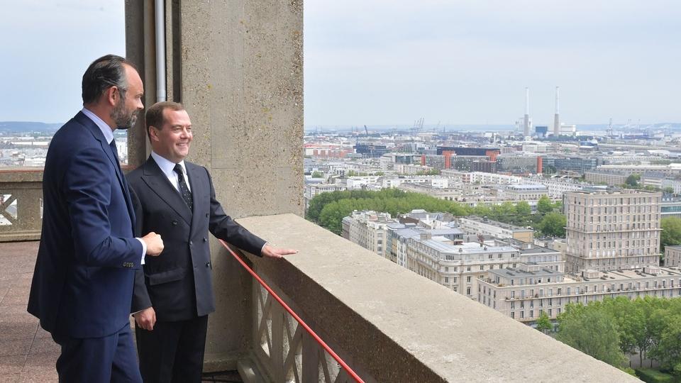 С Премьер-министром Франции Эдуардом Филиппом перед переговорами