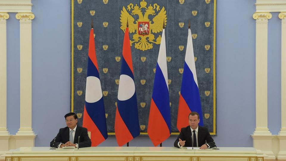 Пресс-конференция Дмитрия Медведева и Премьер-министра Лаоса Тхонглуна Сисулита по итогам российско-лаосских переговоров